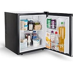Bakaji Mini Frigo Bar Frigorifero Elettrico Termico Capacità 38 Litri Bianco e Nero Alto 51 cm Per Casa e Ufficio Cuisinier Deluxe