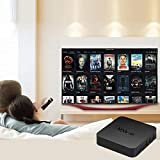 Crystal Digital MXQ 4k Ultra HD Android 7.1 Smart Android TV Box with VP9 HDR10, LAN 100M, WiFi 2.4G EMMC Design CPU 4 Core Smart Android TV Box