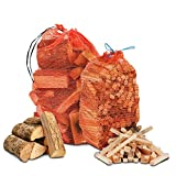 THE CHEMICAL HUT® Pizza Oven Wood Bundle - 10Kg Kiln Dried Firewood & 3Kg Quality Wooden Kindling for Pizza Ovens, BBQ, Open Fire, Chiminea, Fire Pit - Comes with THE LOG HUT® White Woven Sack!