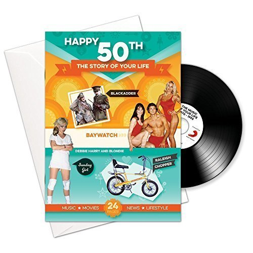 Alles Gute zum 50. Story of Your Life 24 Page Booklet Grußkarte und Musik-Download Mit 15 Sch of Your Life