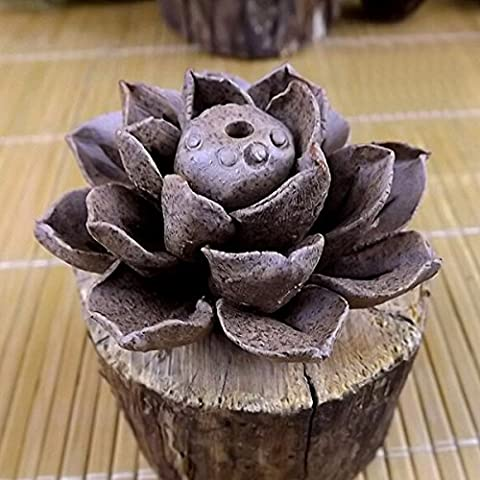 Bluelover Handgefertigte Keramik Ton Räucherstäbchen Halter Lotus Leaf Weihrauch-Brenner