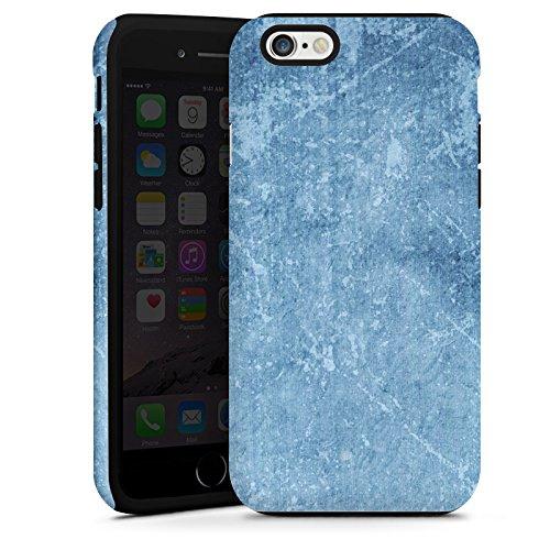 Apple iPhone 4 Housse Étui Silicone Coque Protection Motif bleu Egratignure Structure Cas Tough terne