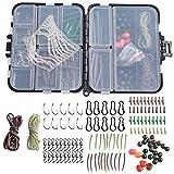 Set von 148 Karpfen Angelgerät Kit Tackle Box Barrel Roll Swivel Haken Sleeve Soft Beads Bundle...
