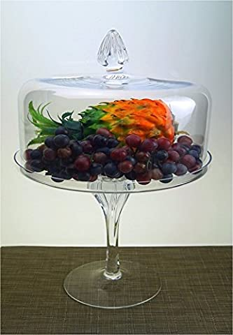 Tall Footed Heavy Glass Handmade Centerpiece Cake Stand Fruit With