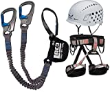 LACD Klettersteigset Ferrata Pro Evo Gurt Start + Helm Salewa Duro 2.0 (inkl. Gratis Aufkleber-Set) (M)