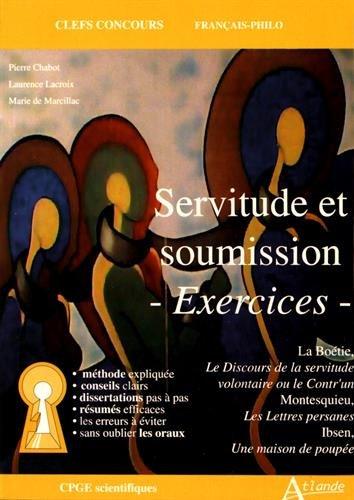 Servitude et Soumission - Exercices par Collectif