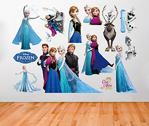 Pegatinas de Frozen, decoración familiar de la casa
