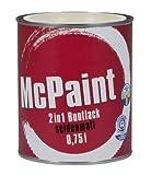 McPaint 2in1 Buntlack Grundierung und Lack in einem für Innen und Außen. PU verstärkt - speziell für Möbel und Kinderspielzeug seidenmatt Weiß 0,75 Liter - Bastellack- Andere Farben verfügbar