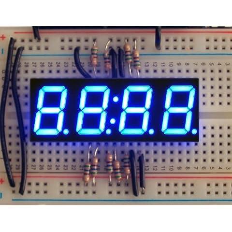 Blue 7-segment clock display - 0.56 digit
