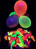 50er-Pack PSYWORK Schwarzlicht Luftballons Neon Gemischt
