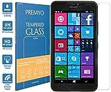 PREMYO Panzerglas für Microsoft Lumia 640 XL Schutzglas Display-Schutzfolie für Lumia 640 XL Blasenfrei HD-Klar 9H 2,5D Echt-Glas Folie kompatibel für Lumia 640 XL Gegen Kratzer Fingerabdrücke
