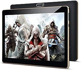 10 Zoll Android Tablet PC PADGENE 32G Speicher 2G RAM 5MP Hinten & 2MP Frontkamera Dual-SIM Slots USB/SD IPS HD 1280x800 WiFi/3G/2G Entsperrt Bluetooth GPS Telefonfunktion(Schwarz)