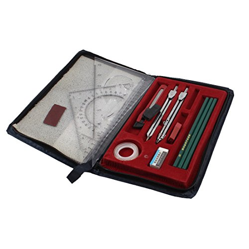 sourcingmap® Student Plotter Combo Mapper Mechanical Drawing Instruments Compass Set