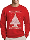 Green Turtle T-Shirts Periodensystem Weihnachtsbaum Ugly Christmas Weihnachtspullover Sweatshirt X-Large Rot