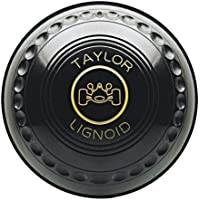 Taylor Lignoid Progrip Heavy Black Outdoor Grass Lawn Short Mat Bowls - Set of 4