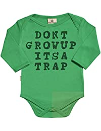 SR - Don't Grow Up It's A Trap Baby Long Sleeve Organic Baby Grow - Baby Babygrow - Baby Bodysuit