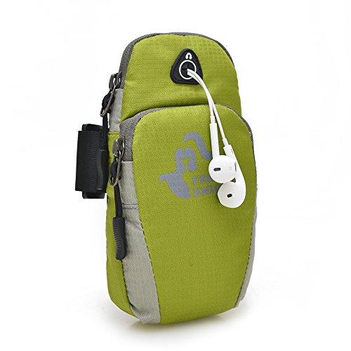 Outdoor - Sport - Telefone, Männer Und Frauen Laufen, Ausgestattet Mit Hand - Tasche, Arm -, Arm - Tasche Green