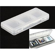 6 en 1 Juego Tarjeta Caja de almacenamiento para 3DS NDSL NDSI 3DSLL (Blanco)