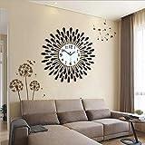 Flashing- Europäische Persönlichkeit Stumm Große Wanduhr Moderne Wohnzimmer Kreative Mode Einfache Wanduhr ( Farbe : Schwarz , größe : 70cm )
