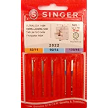 Singer Overlock Ultra Lock 14SH 2022 - Agujas para máquina de coser, 5 unidades,
