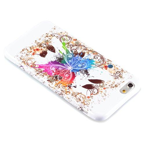 "deinPhone Apple iPhone 6 (4.7"") SILIKON CASE Hülle Schmetterling Gold Schmetterling Gold"