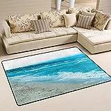 coosun Schöne blaue Farbe der Meer Wasser Wellen in Bereich Teppich Teppich rutschfeste Fußmatte Fußmatten für Wohnzimmer Schlafzimmer 91,4x 61cm, Textil, multi, 36 x 24 inch