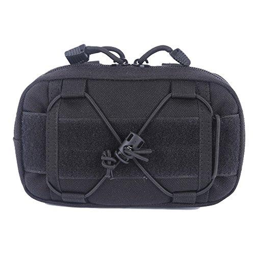 zdmathe Tactical MOLLE Taille Taschen Utility Karte Admin Pouch EDC Werkzeug-Gürteltasche Organizer Taille Pack Zubehör Jagd Tasche, schwarz
