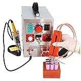 KNOKOO 2 in 1 220V 1.9kw LED Puls Batterie Spot Schweißer 709A Lötkolben Station Punktschweißgerät für 18650 16430 14500 Batterie Pack