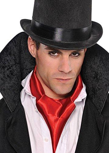 Mens Gothic rot Vampire Cravat Schal