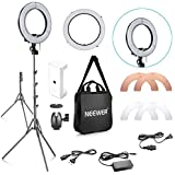 Neewer 14-inch Outer 10-inch Inner Dimmable LED Ring Light Lighting Kit With 59 Inches Light Stand