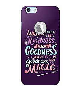 Fuson Designer Back Case Cover for Apple iPhone 6S (Logo View Window Case) (Where There Is A Kindness Theme)