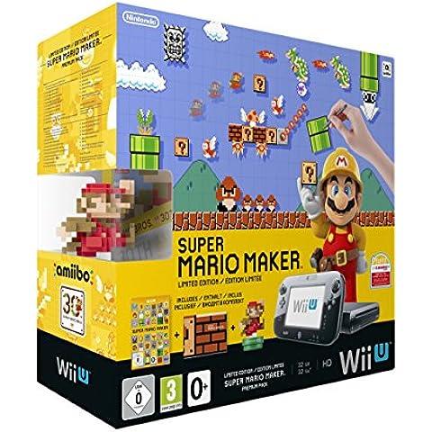 Nintendo Wii U Premium Pack Schwarz Inkl. Super Mario Maker + Artbook + Amiibo [Importación