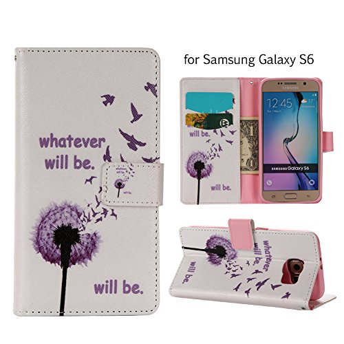 Aeeque iPhone 5/5S/5C/SE/6 plus/6S,, Samsung Galaxy S3/S4/S5/S6/S6/S6 Edge Edge J5/plus/nota 5/S7/S7/Edge G360/G530/i9060, Sony Xperia M4/Z5 mini/Z5, P8 Huawei Lite pittura, disegno elegante Custodia Purple Dandelions Bird
