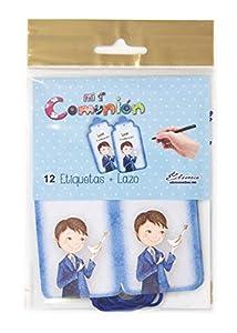 Edima - Bolsa con 12 etiquetas y lazo, Mi Primera Comunión DIY (435725-B)