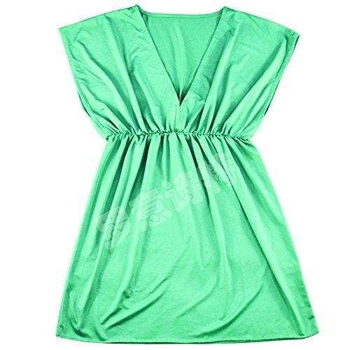 Partiss été robes femmes Bohemia Robe de plage Vert - Vert