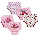 #10: Dimore Baby Toddler 5 Pack Cotton Training Pants (M, Girl)