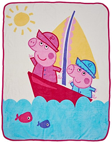 Itp imports licenza bambini carattere super morbido pile coral copriletto letto coperta peppa pig blanket (120x150cm)
