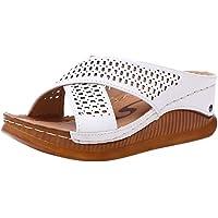 Kenmeko Pantofole Donna Moda Casual Slip On Tacchi Alti Piattaforme Scarpe Scarpe All'aperto