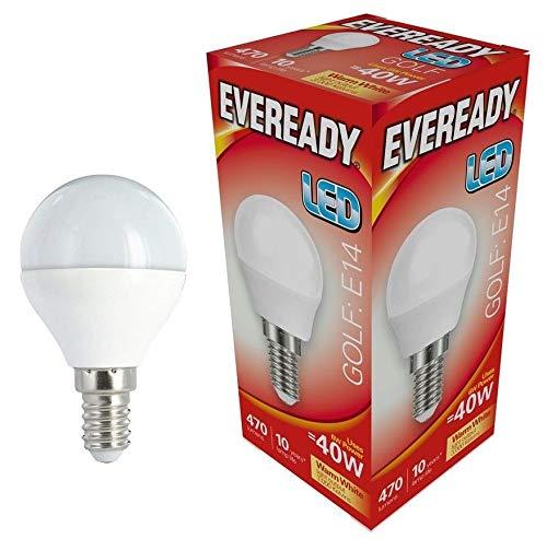 Eveready 5x 6w LED SES Opal Golf Ball - 470lm - 830/3000k - Warmweiß -