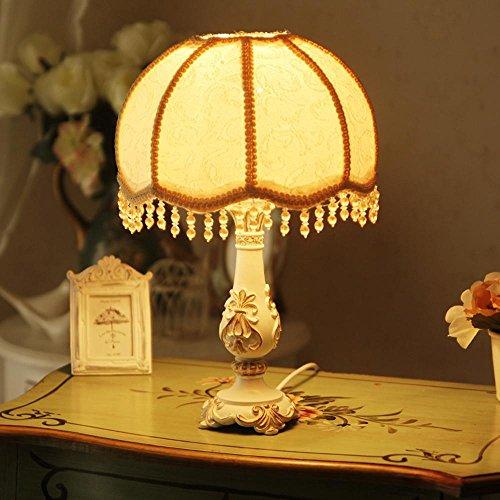 DLUF Resina lampada da tavolo da letto Soggiorno lampada da comodino moderno semplice pastorali stile (Camera Ovale Dresser)
