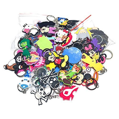 VAWAA 100 pcs/Lot Mischen Stil Zufällig PVC Cartoon Schlüssel Kette Schlüssel Ring Kinder Anime Abbildung Keychain Schlüssel Halter Kid Spielzeug Anhänger Schmuckstück