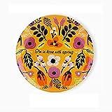 AFMGD8 Pouces Tenture Murale Plaque décorative Motif de Fleurs en céramique Assiettes à dîner à la MaisonPrintempsVaisselle