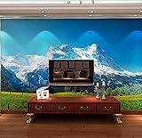 Papier peint mural 3d personnalisé rouleau de papier peint chambre toile de fond TV paysage des Alpes suisses 3d photo papier peint pour le salon papier peint 3D @ 430 * 300...