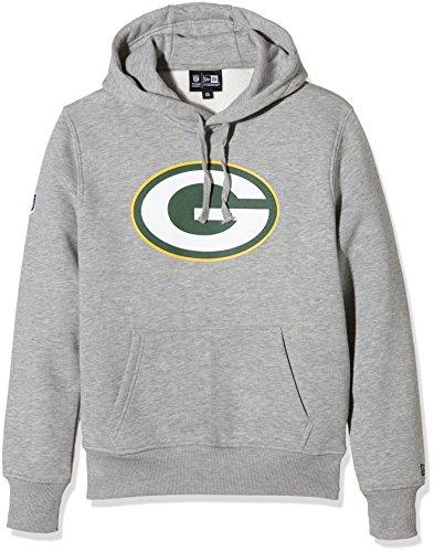 New Era Herren NFL Green Bay Packers Logo Kapuzenpullover, grau, L (Green Bay Packers)
