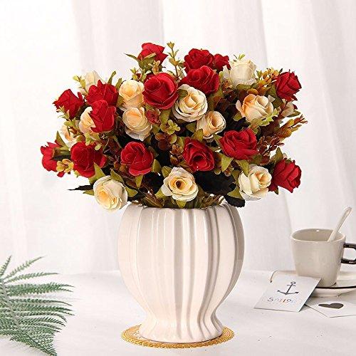 Emulation Blumen rose Seide blumentisch Blumen getrocknete Blumen Dekoration im Wohnzimmer Home Dekoration Pflanzen swing Teil 1
