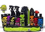 Voodoo Ride X-tra Set complete Profi Autopflege Gesamtpaket innen außen Reinigung Politur Reifen Pflege Felgenreiniger Fettlöser Auto Shampoo Metallpolitur Kratzerentfernung Detailer alle Oberflächen Cockpit Pflege Mikrofasertuch Waschhandschuh Politur