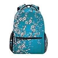 Hunihuni Cherry Blossom Durable Backpack College School Book Shoulder Bag Daypack for Boys Girls Man Woman
