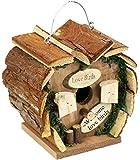 com-four Nistkasten aus Holz zum Aufhängen, Vogelhaus in Herz-Form für Wildvögel, 17 x 12 x 17 cm (01 Stück - Nistkasten)