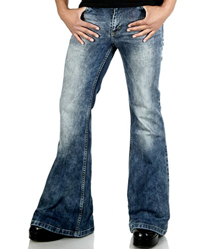 Herren Jeans Schlaghose Star Random 70er Look 36/32