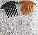 takestop Set 2pièces Barrette Peigne fermacoda 11x 8,5cm Ferme Queue Ferme Cheveux Cross Comb Couleur aléatoire